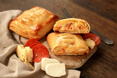 pepperoni & cheese pastry pockets
